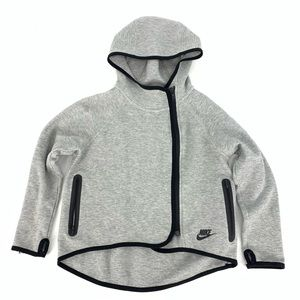 Nike 669804 Tech Fleece Hooded Cape Gray